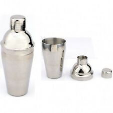 16oz Stainless Steel Cocktail Shaker and Bar 3-Piece Set, Hip Flask