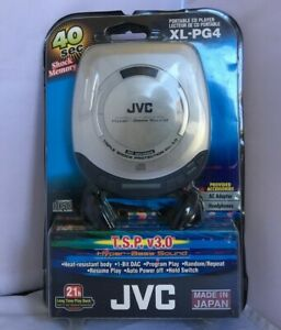 JVC Portable CD Player Hyper Bass Sound - Silver (XL-PG4J)