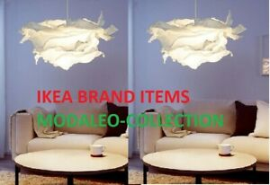 1 , 2  Ikea KRUSNING Pendant lamp Shade White,Funky 85cm,Paper 502.599.21 pup10