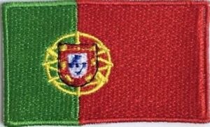 Portugal Flag Small Iron On / Sew On Patch Badge 6 x 3.5cm Portuguese, Porto