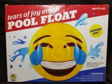 "Tears Of Joy Emoji Pool Float ~Jumbo Sized /Approx 46.5"" x 46.5"" x 7""~ Fun Ideas"