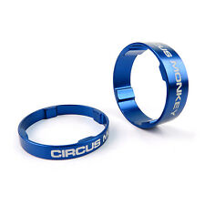 """Circus Monkey Alloy Bike Cycling 1-1/8"""" Stem Headset Spacer 5mm + 10mm - Blue"""