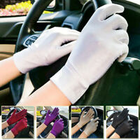 Women/Ladies' Sun UV Protection Outdoor Solid Color Driving Gloves