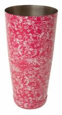 Beaumont 28oz Pink Floral Patterned Boston Can - Cocktail Accessory