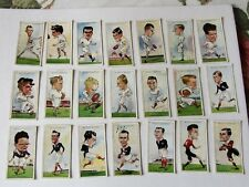 Wills Rugby Internationals 1929- 36 cards as one LOT -