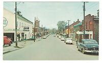Postcard Chrome Photo Canada Grimsby Ontario Main Street Vintage Cars