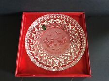 WATERFORD CRYSTAL 1985 CHRISTMAS PLATE TWELVE DAYS COLLECTION- 2 TURTLE DOVE