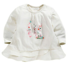 ВNWT NEXT Girls Blouse Top • Embroidered Butterfly T-Shirt • 100% Cotton • 0-3 m
