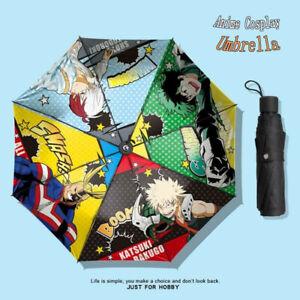 Hot New Anime My Hero Academia Umbrella Cute Sunshade Folding Umbrella Gift