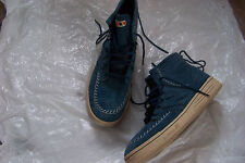 mens new balance Navajo-inspired blue suede leather boots shoes size 8 1/2