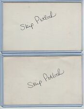 (2) SKIP PITLOCK INDEX CARD SIGNED 1970 GIANTS '74-75 WHITE SOX PSA/DNA CERTIFY