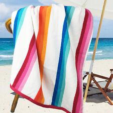 Ramesses 100% Cotton Jacquard Beach Towels, Large Size 150x75cm, Bright Stripe