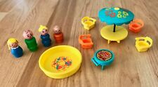 Vintage. Fisher Price Little People Play Family Patio Set #726