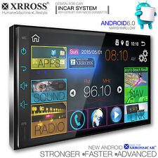 XRROSS Car audio video radio player GPS Navigation Android 6.0 Double Din 7inch