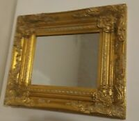 VINTAGE MIRROR ORNATE GOLD GILT WOOD & GESSO FRAMED.