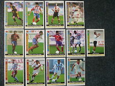 Lote 13 cromos Liga Futbol 1999 - 2000 Mundi Cromo Trading Cards MC