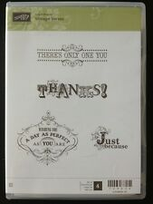 """""""VINTAGE VERSES"""" Stampin'UP! NEW~CLEAR/CLING unmounted-SAB-Thanks-Perfect You-"""