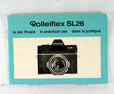 Original Rolleiflex SL 26 Manual, in German, English, French, 40 pages