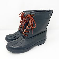 Duck Boots 7 Black Fur Dirty Laundry Bigwig Burnished Red Laced