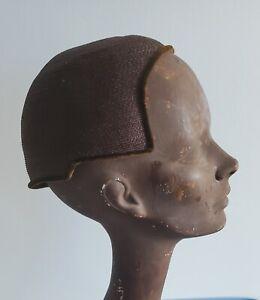 Bonwit Teller Brown Vintage Flapper Hat Velvet Trim