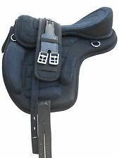 "New All Purpose Synthetic Treeless Black 17"" size Freemax Saddle Christmas"