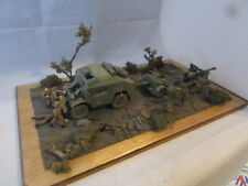Professionally Built TAMIYA QUAD TRACTOR 25 POUNDER DIORAMA