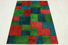 Orientteppich modern blau  Persische moderne Wohnraum-Teppiche mit Patchwork-Muster | eBay