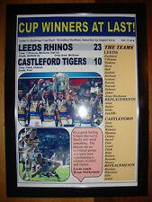 More details for leeds rhinos 23 castleford tigers 10 - 2014 challenge cup final - framed print