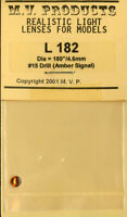 "M.V. Products 1:35 HO Scale 180"" 4.6mm Drill #15 Amber Signal Lenses Lens #L182"