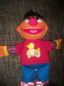 "Hasbro Sesame Street Talking Ernie Plush 14"" 2010 - WORKING"