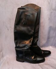 Vintage Tall Genuine Leather Riding Boots, Made in Usa Black Equestrian Dressage
