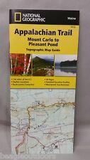 National Geographic TI Appalachian Trail ME Mount Carlo - Pleasant Pond Map 1512