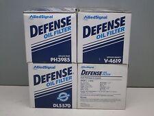 Lot of (4) Defense DL5570 Engine Oil Filter PH3985 V-4619 1626 PF9 PF970C L14619