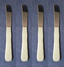 SET OF FOUR - Oneida Stainless MORAINE Flat-Handle Butter Spreaders * USA