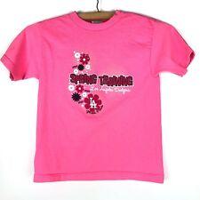 LA DODGERS Girls T Shirt Spring Training Pink Glendale Florida Flower Print c203