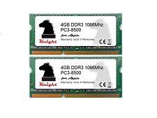 8GB DDR3 1066 MHZ PC3 8500 2X4GB SODIMM FOR MacBook Pro / Intel iMac & Mac Mini
