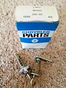 Vintage Mopar 1970-72 Plymouth Fury Trunk/Glove Box Lock Sets  NOS