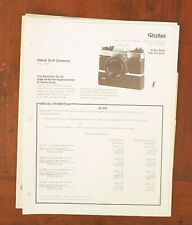 ROLLEI LOT OF DEALER NOTEBOOK PAGES/101539