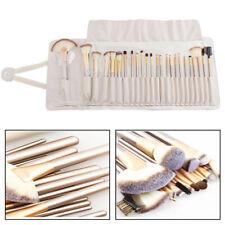Professionelle 24tlg Kosmetik Make up Pinsel Brush Echthaar Schminkpinsel Set