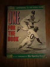 1964 SPORTING NEWS ONE FOR THE BOOK ALL-TIME BASEBALL RECORDS