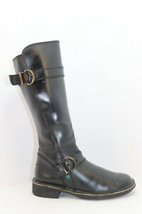 KICKERS Bottes Cuir Noir Taille 37 TBE