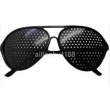 Hot Sale New Vision Care Glasses Eyesight Improver Glasses Pinhole Glasses Black
