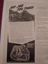 Vintage 1941 Cummins Diesel Engines Ad Advertisement: Model HBS-600 Featured