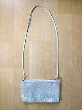 Vgc Vtg 80s Whiting & Davis Ivory Chain Mail Mesh Shoulder Bag Clutch Purse