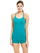 Sports Vest Top jade size 16/18 Medium Impact Santoni Seam Free Secret Slimming