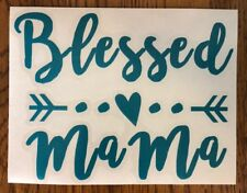 """Blessed Mama #2 Turquoise Arrow 6"""" Car Sticker Decal family love kids mom *D50*"""