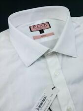 Thomas Pink Slim Fit Royal French Cuff White Dress Shirt 18 x 37 $185