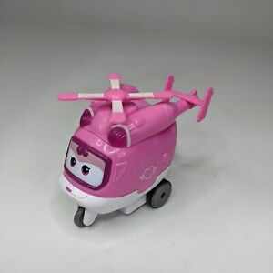 Super Wings Vroom n Zoom Dizzy Pull Back Helicopter Robot Figure Not Transform