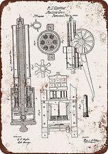 "7"" x 10"" Metal Sign - 1862 Gatling Machine Gun Patent - Vintage Look Reproductio"