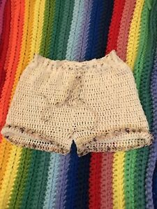 Fashion Handmade Crocheted shorts bottom Beach Women Crochet Swimwear Hot pants